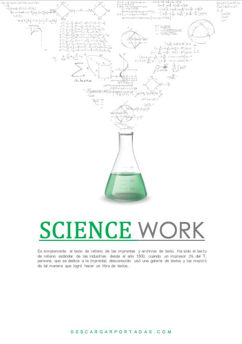 Science Beaker Cover Page Portadas Para Word